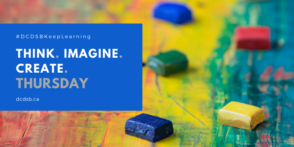#DCDSB Keep Learning Think. Imagine, Create Thursdays picture of crayons