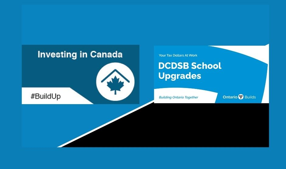School Upgrades and Logos for Funding from the Governments of Canada and Ontario