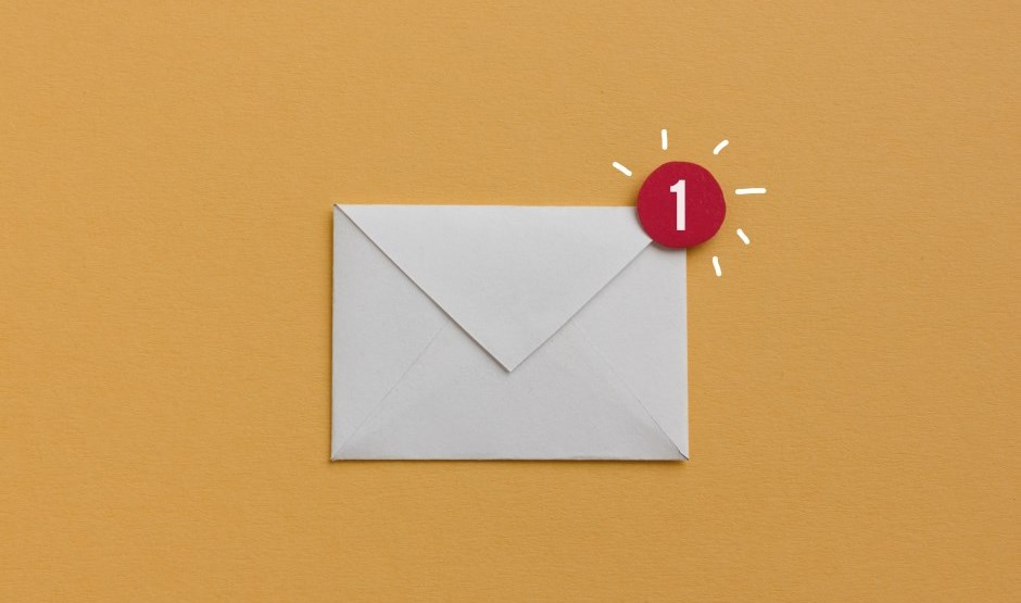Envelope with email icon alert