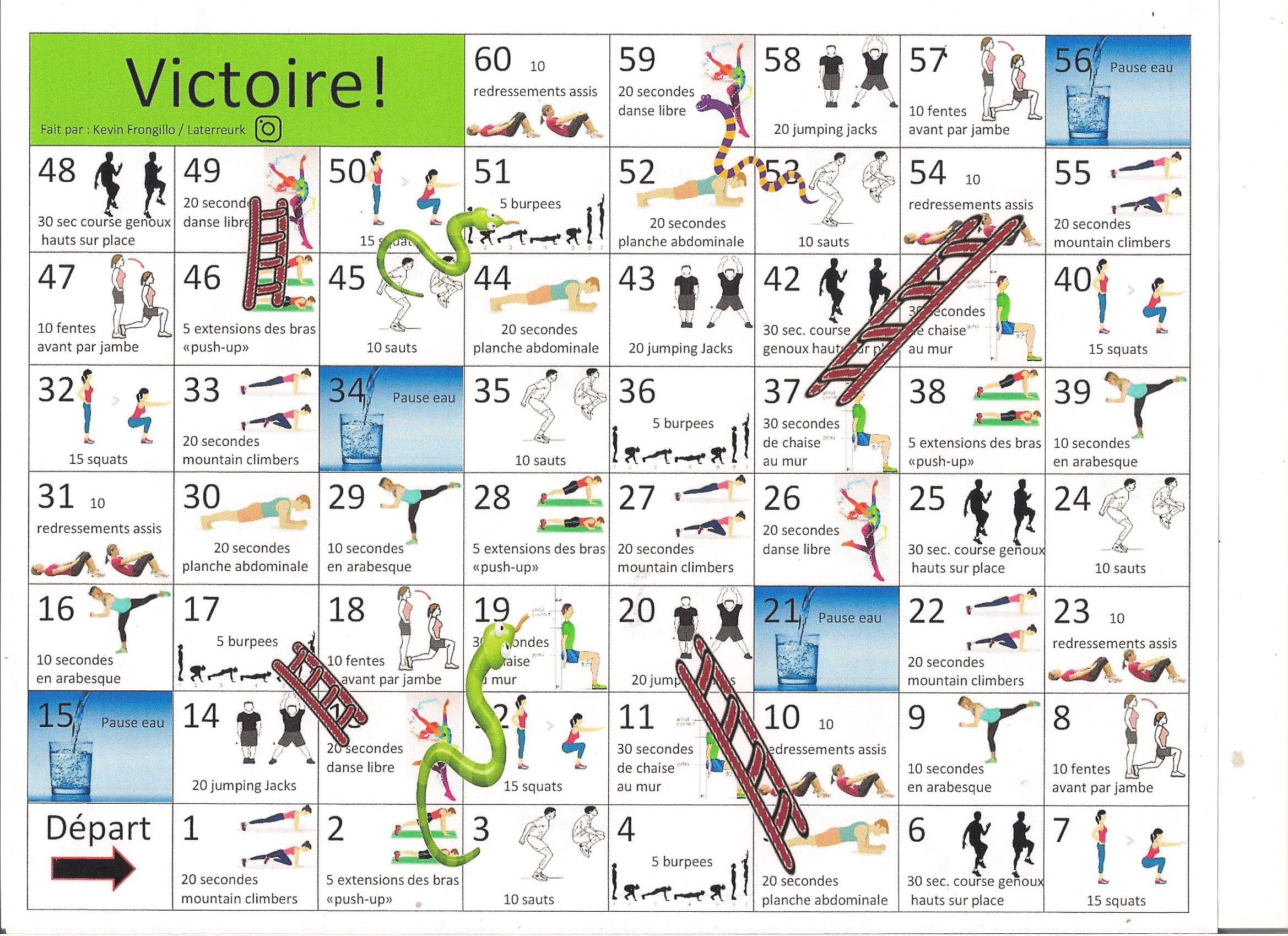 Snakes and Ladders games with corresponding exercises for each square