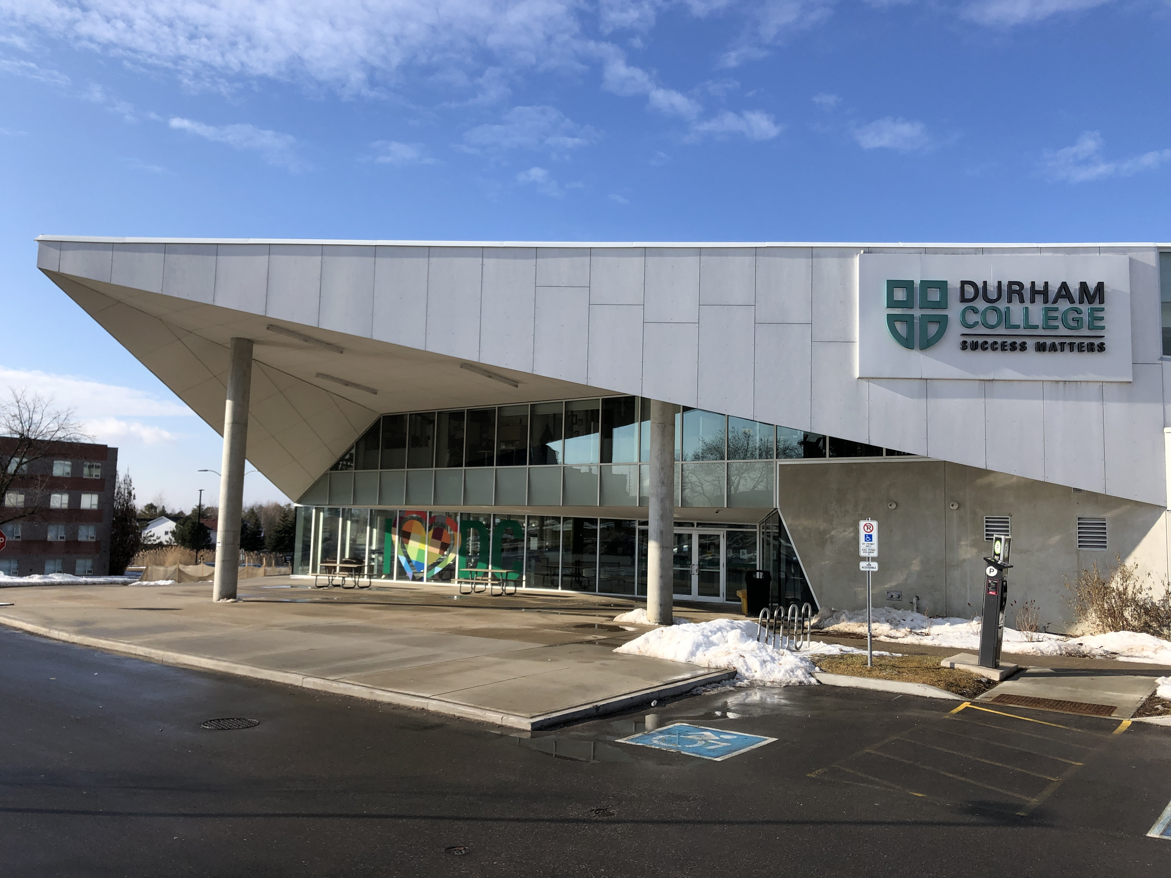Exterior of Durham College building