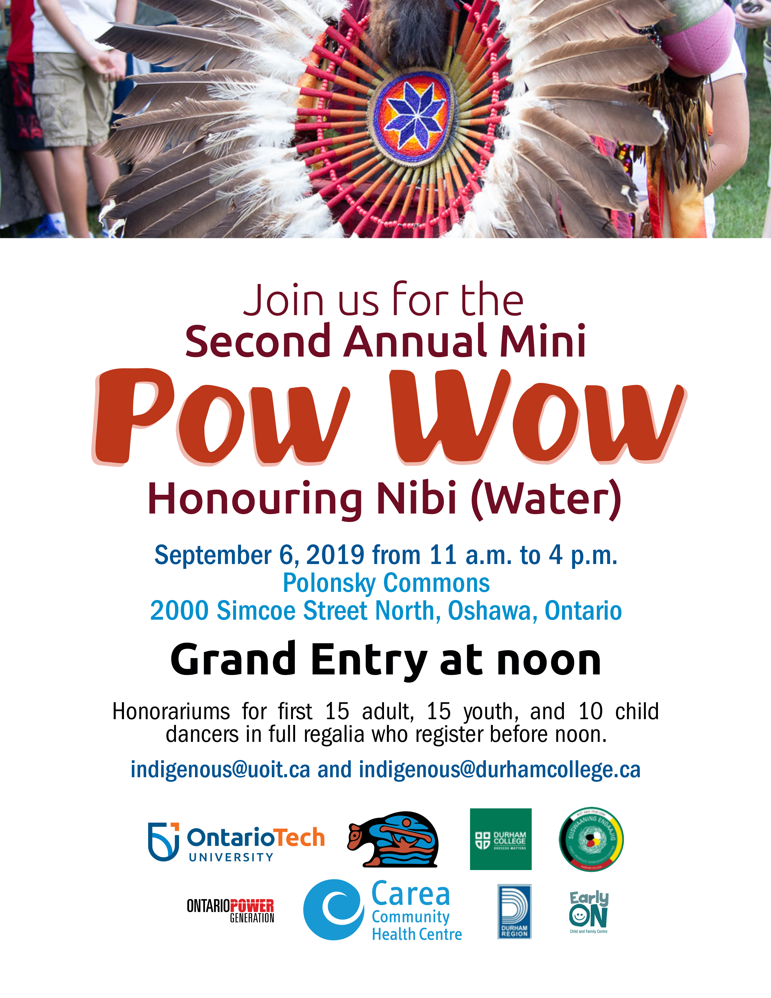Poster promoting Pow Wow at Durham College UOIT