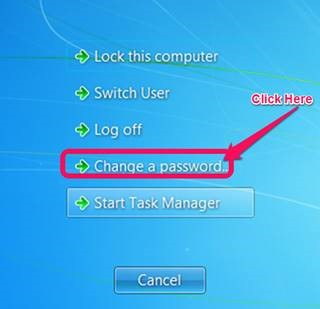 how to change the password screen on windows 7