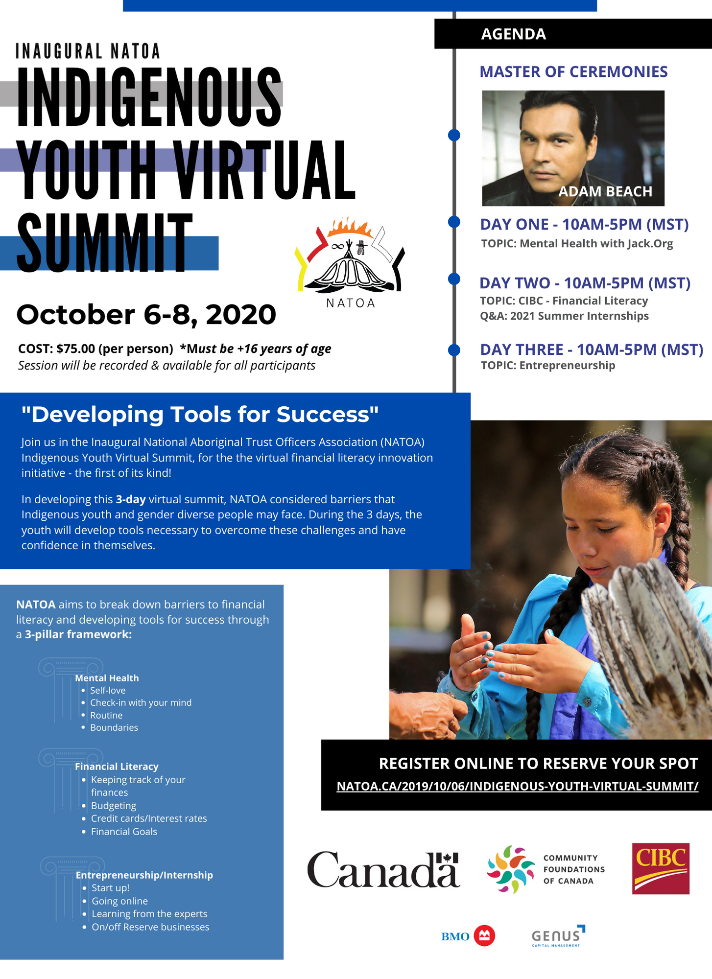 Indigenous Youth Summit flyer