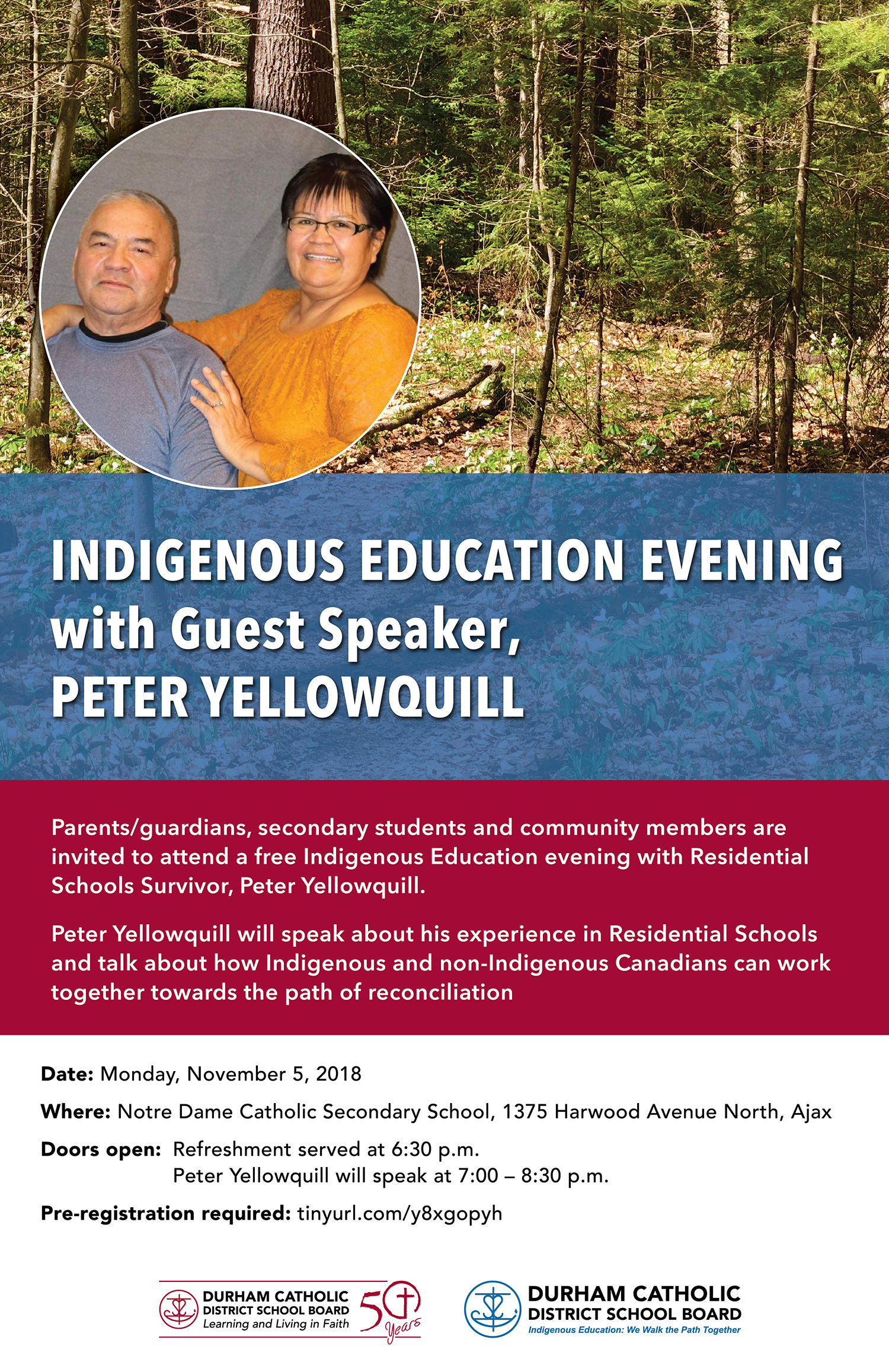 poster promoting evening presentation with Peter Yellowquill