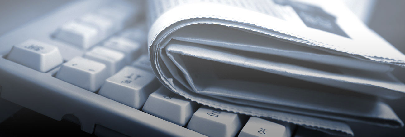 Newspaper on a keyboard