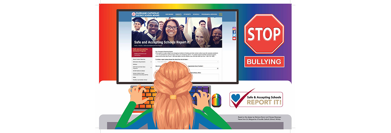 Poster of Stop Bullying Safe and Accepting Schools Report it